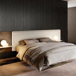Steel Free Bed - Panama 5508 and Bronzo matt XGlass headboard. Peltro steelmetal legs.   Beds   LAGO