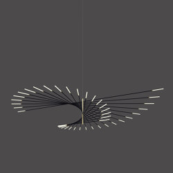 _M101 PENDANT LAMP BLACK/BRASS | Suspended lights | Henri Bursztyn