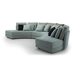 Black & More | Round modular sofa | Sofas | MALERBA