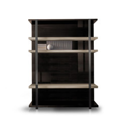 Perfect Time | Bookcase designed to accept flatscreen TV | Estantería | MALERBA