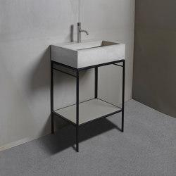 Washbasin furniture | dade LAURA 60 washstand furniture | Wash basins | Dade Design AG concrete works Beton