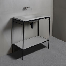 Washbasin furniture | dade LAURA 90 WAVE washstand furniture | Wash basins | Dade Design AG concrete works Beton