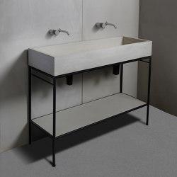 Washbasin furniture | dade LAURA 120 washstand furniture | Wash basins | Dade Design AG concrete works Beton
