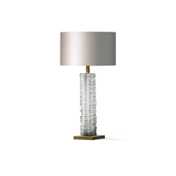 Crystal Strata Column Lamp | Table lights | Porta Romana