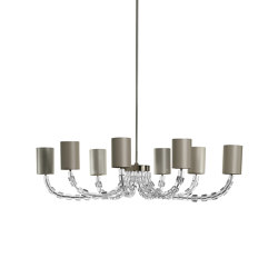 Lartigue | Oval Lartigue Chandelier | Suspended lights | Porta Romana