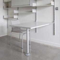 606 Universal Shelving System: Integrated desk table | Scrivanie | Vitsoe