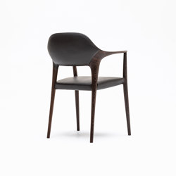 Dining chair, long arm | Chairs | Kunst by Karimoku