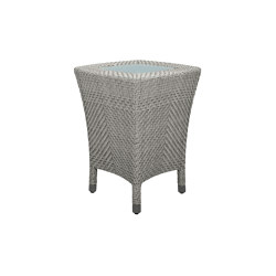 AMARI GLASS TOP SIDE TABLE SQUARE 45 | Tavolini alti | JANUS et Cie