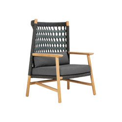 ANATRA TEAK HIGH BACK LOUNGE CHAIR | Sessel | JANUS et Cie