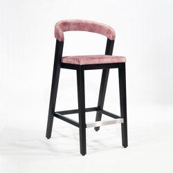 Play Barstool Upholstered Back - Oak Dark | Counter stools | Wildspirit