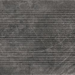 Aspen | Struttura Grooves | Basalt | Keramik Fliesen | Novabell