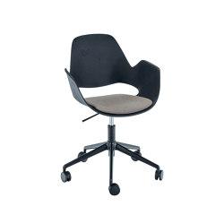 FALK | Dining armchair - Five star base w/ castors, Beige seat | Chairs | HOUE