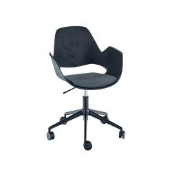 FALK | Dining armchair - Five star base w/ castors, Dark Grey seat | Chairs | HOUE