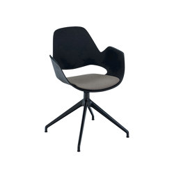 FALK | Dining armchair - Four star swivel base, Beige seat | Chairs | HOUE