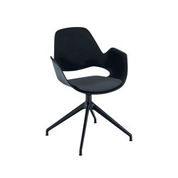 FALK | Dining armchair - Four star swivel base, Dark Grey seat | Chairs | HOUE