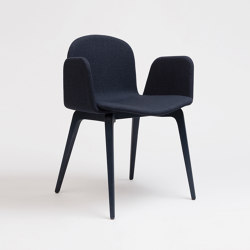 Bob XL Wood Chair With Armrests | Chairs | ONDARRETA