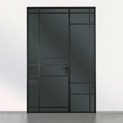 Swing door slim line room door with leaf | Internal doors | raumplus