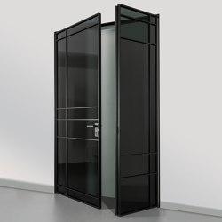 Swing door slim line room door with leaf | Portes intérieures | raumplus