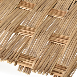 Handwoven panel by willow | Handwoven panel by willow peeled | Roofing systems | Caneplex Design