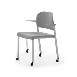 MAKEUP Easy Soft Armchair with castors | Sillas | Diemmebi