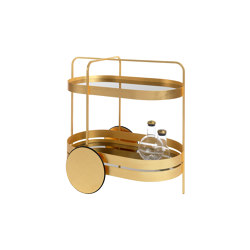 GRACE GOLD EDITION serving trolley | Trolleys | Schönbuch