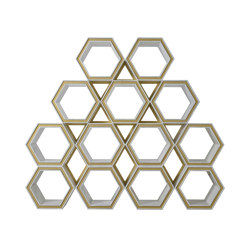 Freestanding | Hexagon Bookcase | Shelving | Homedesign