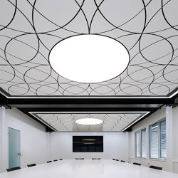 Character Design Ceiling + Lighting | Fluid-C + Lumeo-R | Suspended ceilings | durlum