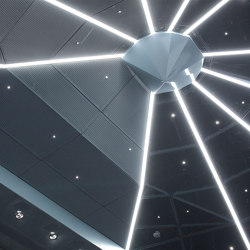 Expanded Metal Ceilings | S-Omega Rhombos Lighting Channel System | Suspended ceilings | durlum