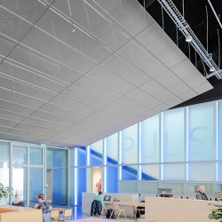 Expanded Metal Ceilings | S7 Rhombos Rail Channel System | Suspended ceilings | durlum