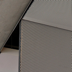 Expanded Metal Ceilings | FS5.2 FH Rhombos Lay-On System With Gypsum Trim Profiles | Falsos techos | durlum
