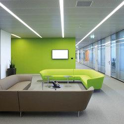Rectangular Metal Panels | S-Omega Lighting Channel System | Suspended ceilings | durlum