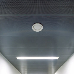 Rectangular Metal Panels | FS5.2 Fh Attachement System With Gypsum Board | Suspended ceilings | durlum