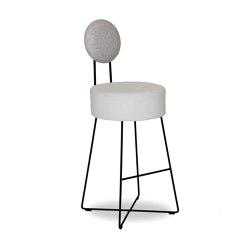 Lotta Bar Stool with Backrest | Bar stools | Bielefelder Werkstaetten
