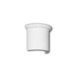Facade mouldings - Half column segment Profhome Decor 416001 | Facade | e-Delux