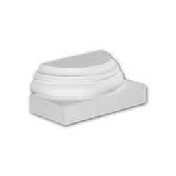 Facade mouldings - Half Column Base Profhome Decor 417001 | Facade | e-Delux