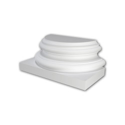 Facade mouldings - Half Column Base Profhome Decor 417002 | Facade | e-Delux