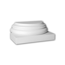 Facade mouldings - Half Column Base Profhome Decor 417101 | Facade | e-Delux