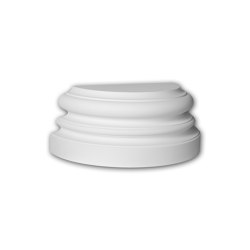 Facade mouldings - Half Column Base Profhome Decor 417201 | Facade | e-Delux