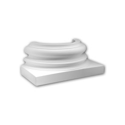 Facade mouldings - Half Column Base Profhome Decor 417202 | Facade | e-Delux