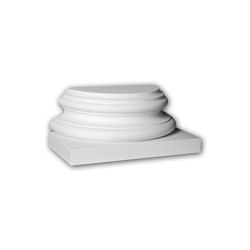 Facade mouldings - Half Column Base Profhome Decor 417302 | Facade | e-Delux