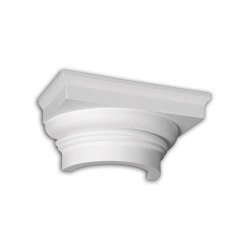 Facade mouldings - Half Column Capital Profhome Decor 445101 | Facade | e-Delux