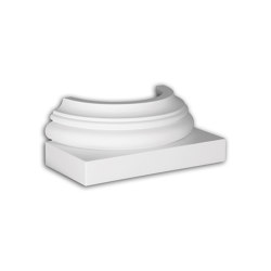 Facade mouldings - Half Column Base Profhome Decor 447101 | Facade | e-Delux