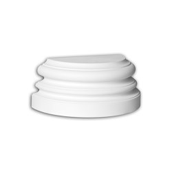 Facade mouldings - Half Column Base Profhome Decor 447202 | Facade | e-Delux