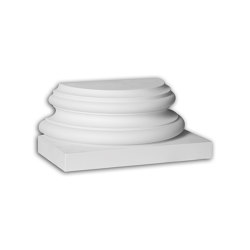Facade mouldings - Half Column Base Profhome Decor 447302 | Facade | e-Delux