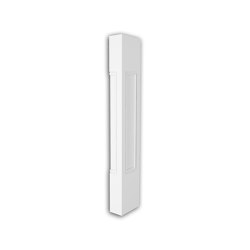 Facade mouldings - Half Balustrade Pillar Profhome Decor 475211 | Facade | e-Delux