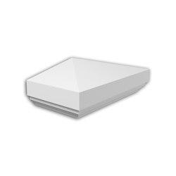 Facade mouldings - Half Balustrade Cap Profhome Decor 476211 | Facade | e-Delux