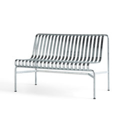 Palissade Dining Bench wo Armrest Hot Galvanised | Sitzbänke | HAY