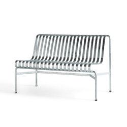 Palissade Dining Bench wo Armrest Hot Galvanised | Bancos | HAY