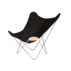 Canvas Mariposa Butterfly Chair Black Chrome Frame | Sessel | Cuero Design