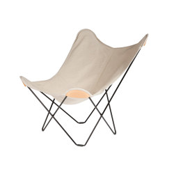 Canvas Mariposa Butterfly Chair Crude Nature Black Frame | Sessel | Cuero Design